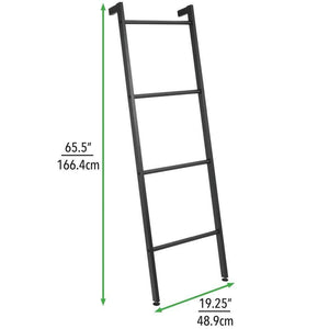 Products mdesign metal free standing bath towel bar storage ladder holds towels blankets clothes and magazines newspapers 4 levels matte black