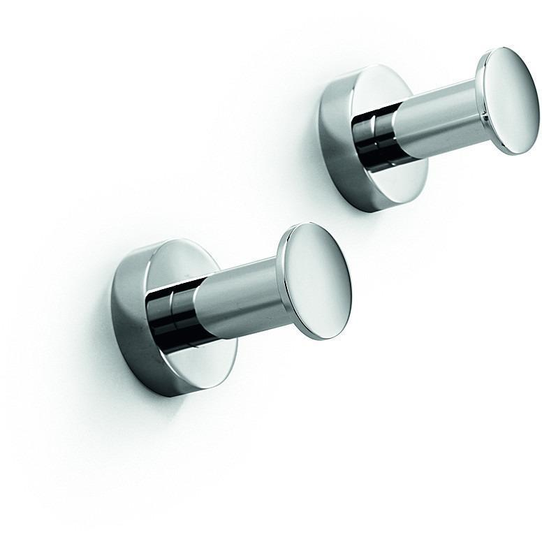 Double Towel Hook LB Baketo Brass Towel Hanger set of 2 for Bath, Chrome