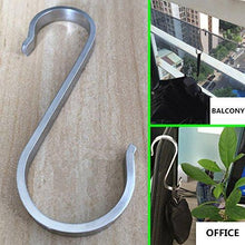 Products 10 pcs s shape stainless steel hooks for kitchenware utensils clothes towels gardening tools extended wall mount tool holder