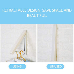The best suit hangers stainless steel clothes wall hanger retractable indoor magic foldable drying towel rack