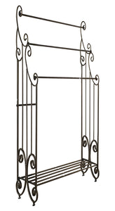 Discover the best kings brand furniture 1419 metal free towel rack stand with shelf pewter
