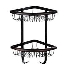 Top rated weirun bathroom brass 2 tier corner shelf basket with towel hook bath shower caddy storage organizer holder rack heavy duty wall mounted oil rubbed bronze