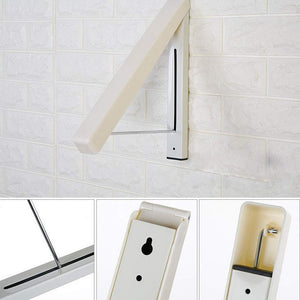 Storage suit hangers stainless steel clothes wall hanger retractable indoor magic foldable drying towel rack