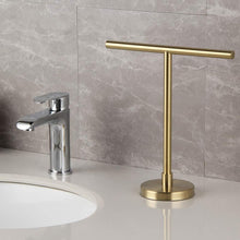 Budget modern hand towel holder tree rack free standing sus 304 stainless steel countertop towel ring brushed pvd zirconium gold