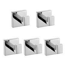 Purchase luxury 304 stainless steel bathroom single towel hook robe chrome wall mount coat hat door hook hanger mirror polished bathroom accessories 5pcs 5