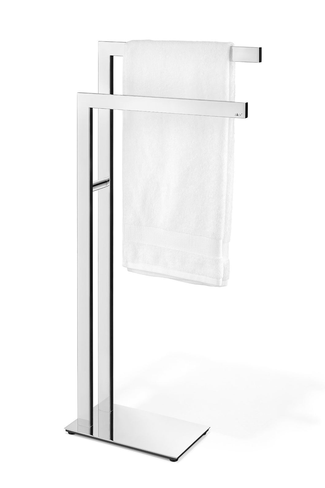 Discover zack 40046 towel stand stainless steel metallic
