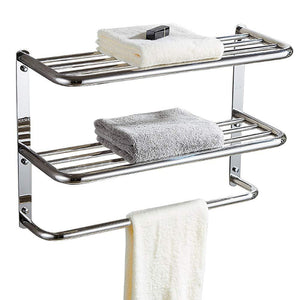 Discover kaileyouxiangongsi 24 inch shelf towel rack stainless steel two tier