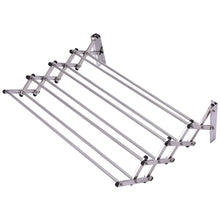 Amazon tangkula wall mount drying rack bathroom home stainless steel laundry drying rack folding clothes rack expandable towel rack 34x25x9stainless steel