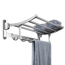 The best candora 24in wall mounted shelf towel rack stainless steel specular finish towel shelf towel holder with 8 hooks