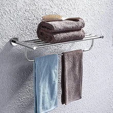 Try satopics towel rack with towel bar polished bathroom shelf wall mount