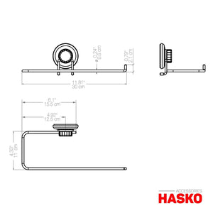 Heavy duty hasko accessories suction cup paper towel holder chrome plated stainless steel bar for bathroom kitchen chrome