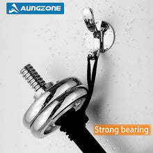 The best aungzone towel hooks for bathroom kitchen coat clothes robe hook rustproof wall mount stainless steel no drilling heavy duty 2 pack