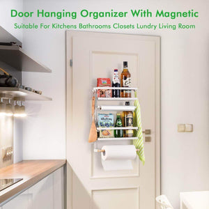 Amazon refrigerator organizer rack magnetic kitchen magnetic holder with hook strong power magnet for paper towel holder rustproof spice jars rack refrigerator shelf storage hanger oganizer tool 19 x13x5 3in