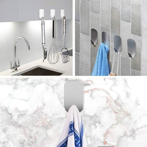Discover the best adhesive hooks heavy duty wall hooks stainless steel ultra strong waterproof hanger for robe coat towel keys bags home kitchen bathroom set of 16