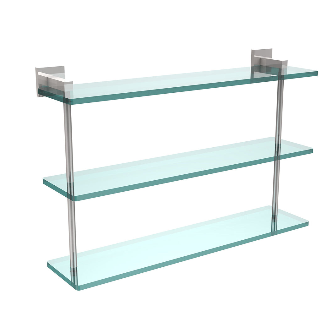 Allld|#Allied Brass MT-5-22-PC Montero Collection 22 Inch Triple Tiered Glass Shelf,