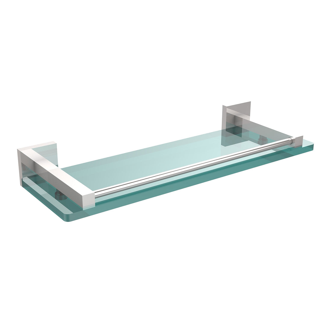 Allld|#Allied Brass MT-1-16-GAL-PC Montero Collection 16 Inch Glass Shelf with Gallery Rail,