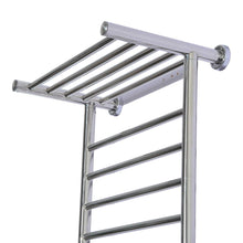 Discover fdinspiration 35 5 electric wall mounted stainless steel bathroom towel warmer dryer heated rail w 9 bars top shelf rack with ebook
