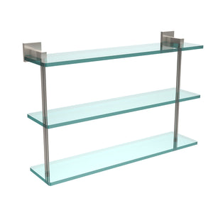Allld|#Allied Brass MT-5-22-SN Montero Collection 22 Inch Triple Tiered Glass Shelf,