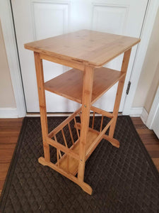 New splashsoup bamboo side table compact book magazine media rack end piece natural bathroom towel stand living room corner organizer entryway caddy