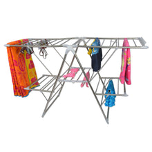 Shop here smart design heavy duty clothes drying rack w adjustable wings foldable design w 66 feet of drying space stainless steel metal drying clothes garments towels 61 x 39 57 inch silver