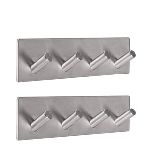 Latest webi adhesive hooks heavy duty stainless steel sticky utility wall hooks for towel loofahs belt scarves purses hats keys holder no nail waterproof 2 packs
