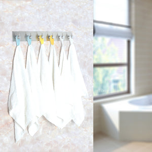 Explore webi adhesive hooks heavy duty stainless steel sticky utility wall hooks for towel loofahs belt scarves purses hats keys holder no nail waterproof 2 packs 1