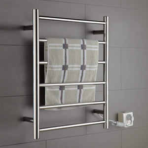Great onda towel warmer stainless steel wall mounted heated 6 bars 110 120v