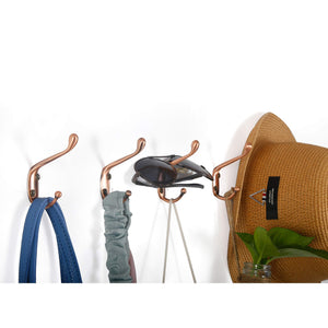 Buy now webi dual coat hook 18 set metal double robe hook decorative coat hat hook bath towel closet clothes hanger garment rail rack holder wall mount entryway kitchen antique copper