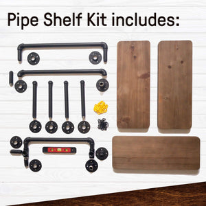 Storage industrial pipe shelves with towel rack diy floating wood shelves and metal bracket pipes rustic mounted wall shelf for bathroom kitchen living room bedroom decorative farmhouse shelving units