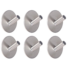 Home webi adhesive hooks heavy duty stainless steel sticky utility wall hooks for towel loofahs belt scarves purses hats keys holder no nail waterproof 6 packs