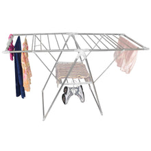 The best smart design heavy duty clothes drying rack w adjustable wings foldable design w 66 feet of drying space stainless steel metal drying clothes garments towels 61 x 39 57 inch silver