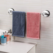 Latest jomola 17 inch vacuum suction cup shower towel bar for bathroom drill free kitchen hand towel rack holder storage hanger stainless steel brushed finish