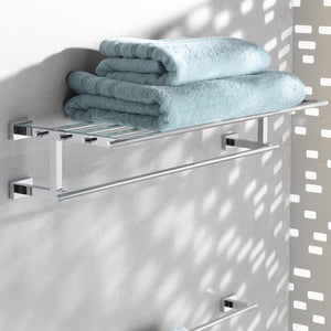 Online shopping essentials cube 23 5 8 in multi towel rack