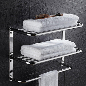 Discover the kaileyouxiangongsi 24 inch shelf towel rack stainless steel two tier