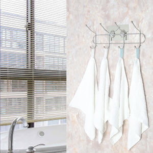 Top webi adhesive hooks transparent heavy duty sticky utility wall hooks for towel loofahs belt scarves purses hats keys holder no nail waterproof 2 packs