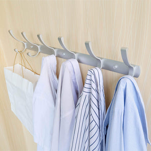 Get webi 2 set 3 peg sturdy coat hat rack bath kitchen towel hook holder wall mounted closet garment garage organizer bedroom home office storage bathroom fixtures accessories aluminum satin cyuyg32