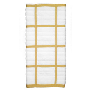 Discover the all clad textiles 100 percent combed terry loop cotton kitchen towel oversized highly absorbent and anti microbial 17 inch by 30 inch checked dijon yellow