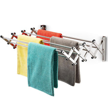 Shop here bartnelli accordion wall mounted drying rack 8 smooth round stainless steel rods huge 22 linear feet capacity compact sleek design ideal for heavy wet towels or delicates 60lb capacity