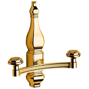 Lux Queen Wall Double Towel Robe Hook Hanger for Bath Towel Holder, Brass