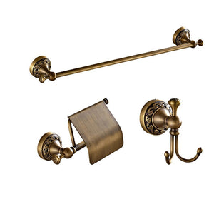 Antique Copper Bath Hardware Bathroom Accessories Set Robe HookPaper HolderTowel BarToilet Brush HolderBathroom Set