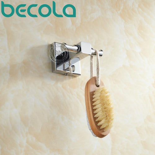 Becola Clothes Hook Solid Brass Chrome Finish Bathroom Accessories Robe Hook B87015
