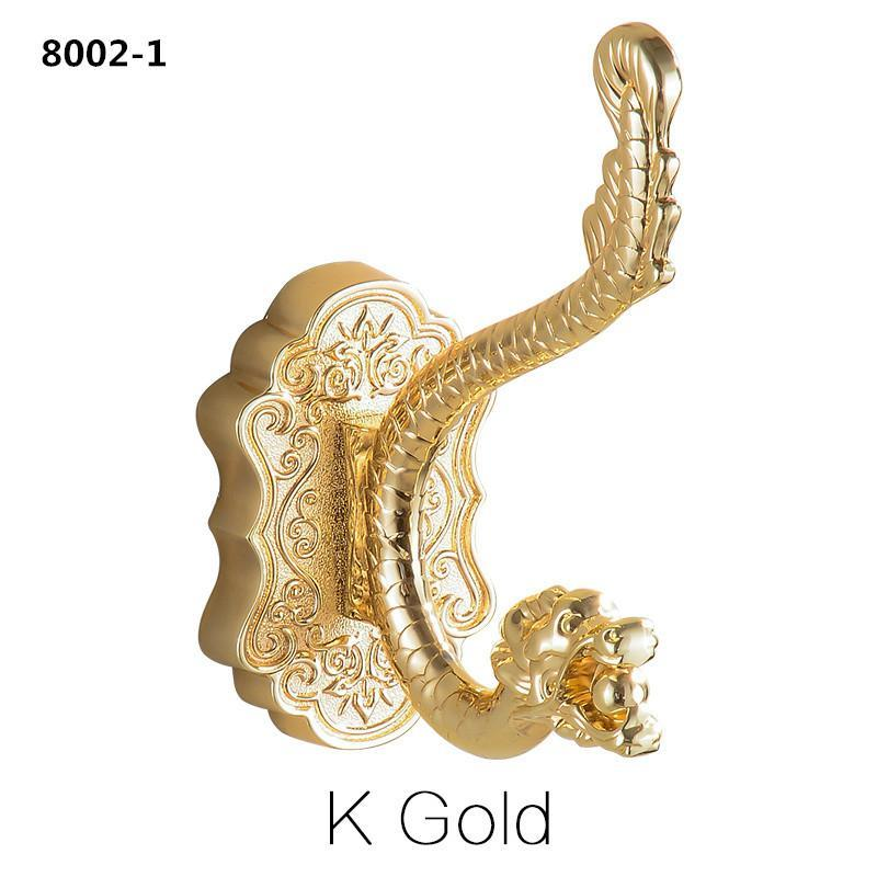 Dragon Design Wall Mount Towel Hanger Hooks For Clothes Coat Hat Bag Hooks Bathroom Accessories 8802