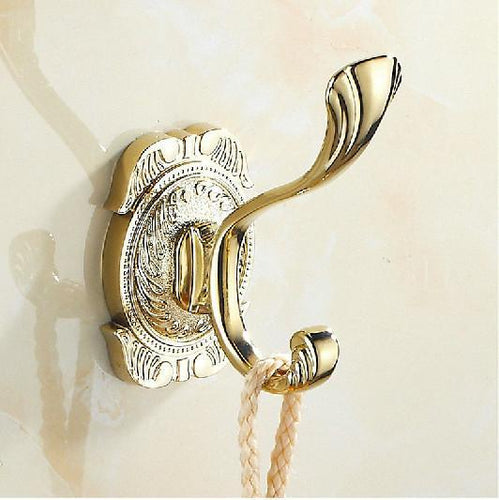 Bathroom Wall Mounted Zinc Alloy Towel Hook Holder Golden Finished Bathroom Accessories 2010
