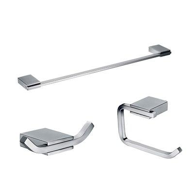 Brushed Stainless Steel Bathroom Accessories Set