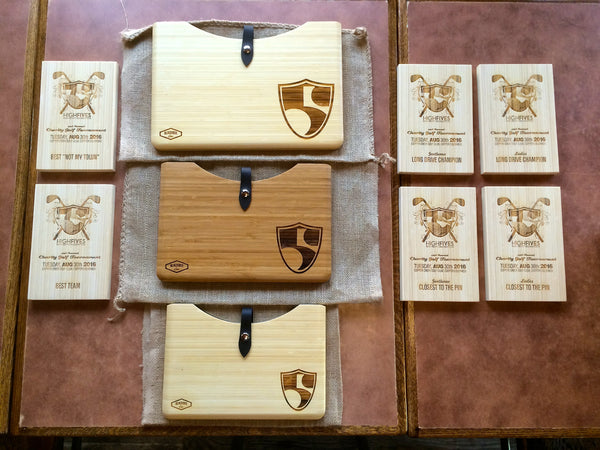 High Fives Foundation Custom Bamboo Blackbox Cases for Apple MacBook Pro