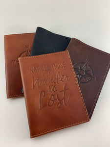 Passport Cover | Not All Who Wander Are Lost