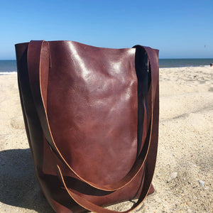 Large Shoppers Tote | Walnut