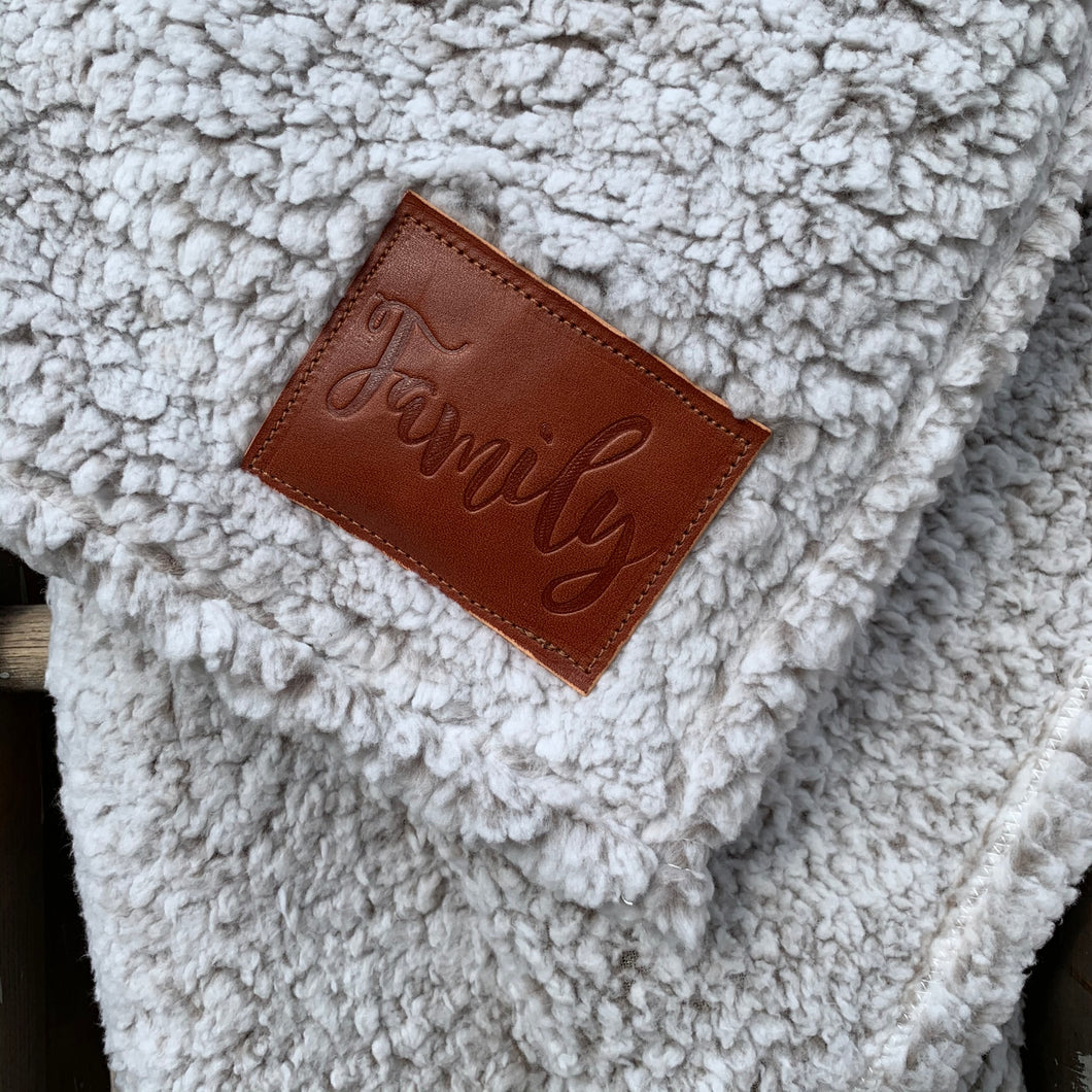 Sherpa Blanket | Brown | Family