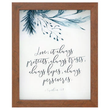 Love Always Rectangle Glass Frame