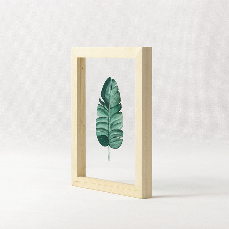 The Banana Leaf Rectangle Glass Frame